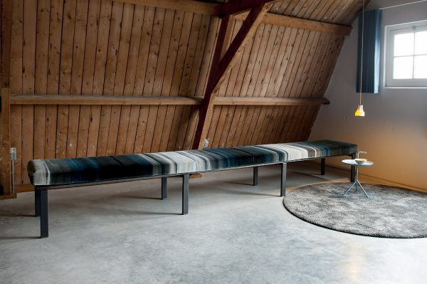daybed divan lounge industrieel fluweel