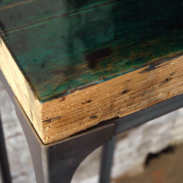 industrieel sokkel epoxy tafel