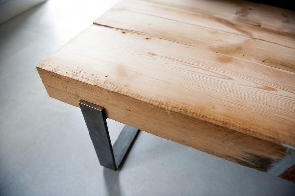 salontafel industrieel balken hout reclaimed wood