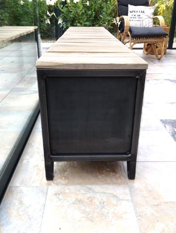 haardhout kast houtopslag houtkachel sidetable tv meubel